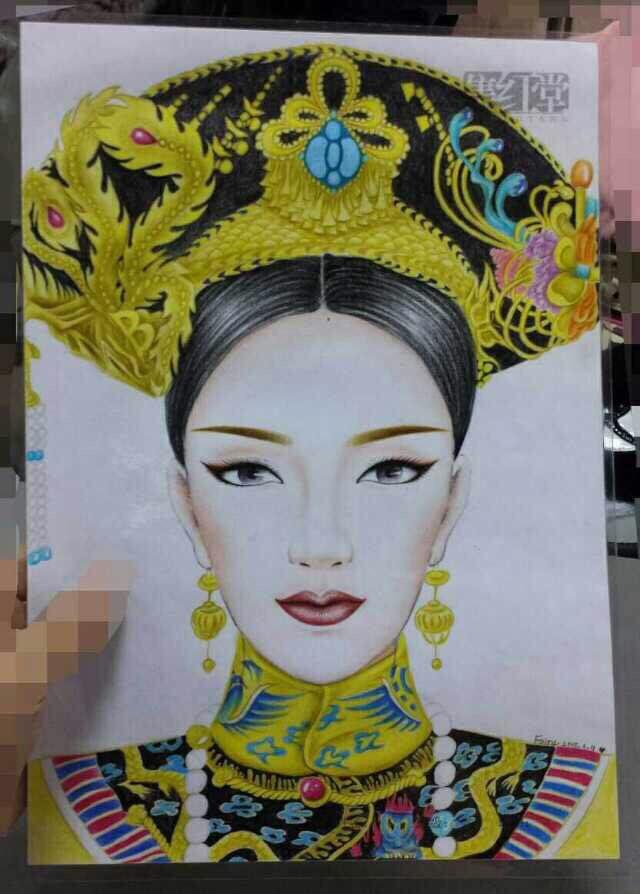 武媚娘与甑缳手绘图 - 集红堂化妆培训学校
